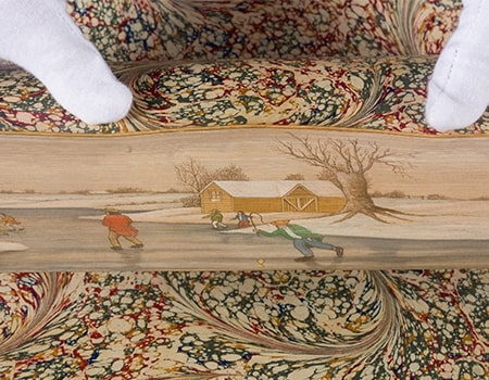Fore-edge painting on a book