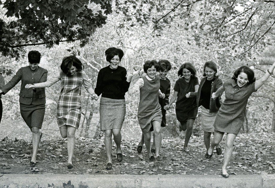 Mount Saint Agnes students on campus, circa 1960s