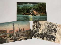 Photo of early 20th century Baltimore postcards
